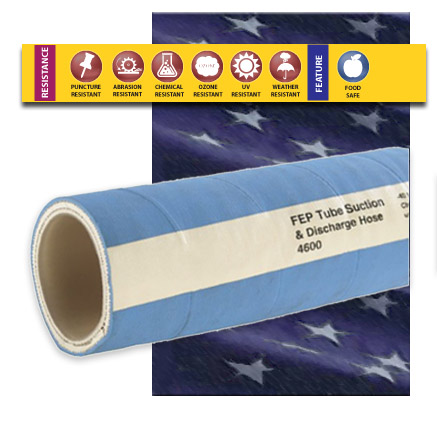TR2 FEP Teflon Rubber Covered Hose